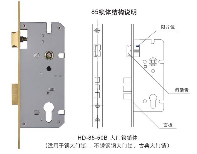 HD-85-50B大门锁锁体